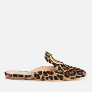 Rupert Sanderson Women's Silvering Slide Loafers - Leopard Pony