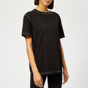 Helmut Lang Women's Contrast Stitch Detail T-Shirt - Black