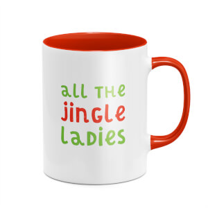 All The Jingle Ladies Mug - White/Red
