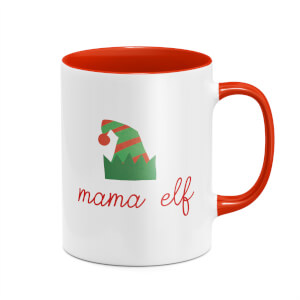 Mama Elf Mug - White/Red
