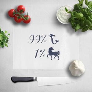 99% Mermaid 1% Unicorn Chopping Board