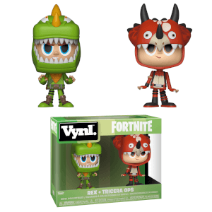 Rex and Tricera Ops Funko Vynl.