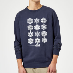 Star Wars Snowflake Christmas Sweatshirt - Navy