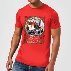 T-Shirt de Noël Homme Star Wars A Very Merry Sithmas - Rouge