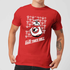 Star Wars Let The Good Times Roll Men's Christmas T-Shirt - Red