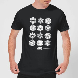 Star Wars Snowflake Men's Christmas T-Shirt - Black