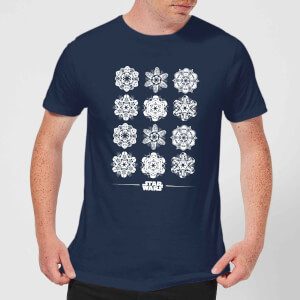 Star Wars Snowflake kerst T-shirt - Navy