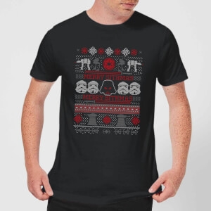 Star Wars Merry Sithmas Knit Mens T-Shirt - Schwarz