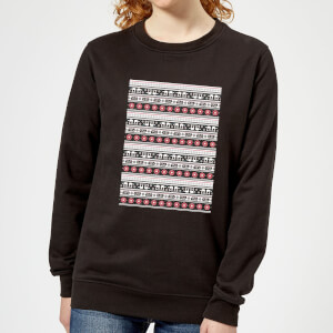 Star Wars AT-AT Pattern Damen Pullover - Schwarz