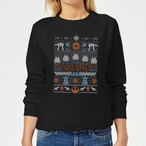 Star Wars Seasons Greeting From Hoth Women's Christmas Sweatshirt - Black