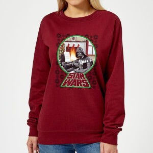 Star Wars A Very Merry Sithmas Women's Christmas Sweater - Burgundy