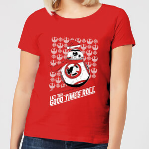 T-Shirt de Noël Femme Star Wars Let The Good Times Roll - Rouge