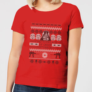Star Wars I Find Your Lack Of Cheer Disturbing Women's Christmas T-Shirt - Red