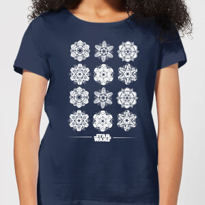 Star Wars Snowflake Dames kerst T-shirt - Navy