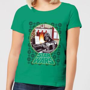 T-Shirt Star Wars A Very Merry Sithmas Christmas - Kelly Green - Donna
