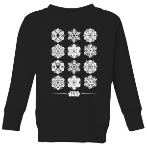 Star Wars Snowflake Kids Christmas Sweatshirt - Black