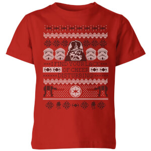 Star Wars I Find Your Lack Of Cheer Disturbing Kids Christmas T-Shirt - Red