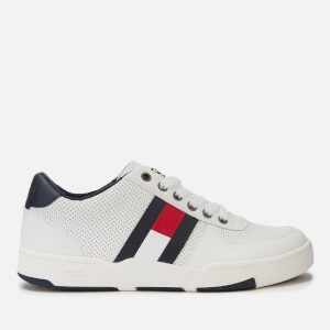 Tommy Jeans Men's Lifestyle Leather Basket Trainers - White