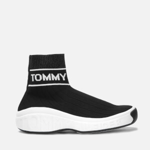 Tommy Jeans Women's Knit Sock Hi-Top Trainers - Black
