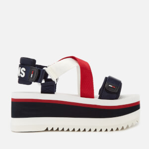 Tommy Jeans Women's Sporty Neoprene Flatform Sandals - Red/White/Blue