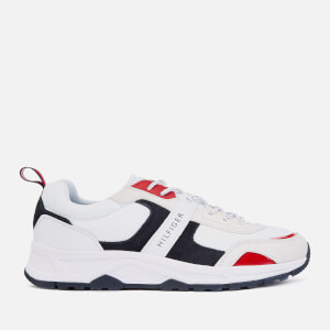 Tommy Hilfiger Men's Fashion Mix Chunky Runner Style Trainers - Red/White/Blue