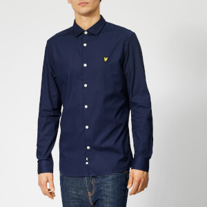 Lyle & Scott Men's Long Sleeve Slim Fit Poplin Shirt - Navy