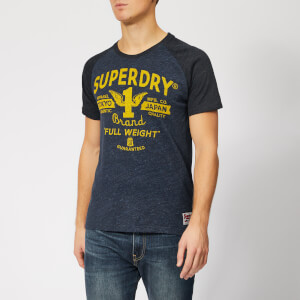 Superdry Men's Full Weight Raglan T-Shirt - Mid Highlndblugrit/Bassblugrit