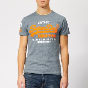 Superdry Men's Premium Goods Duo T-Shirt - Haze Blue Grindle