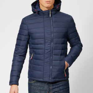 Superdry Men's New Fuji Double Zip Hoodie - New Navy