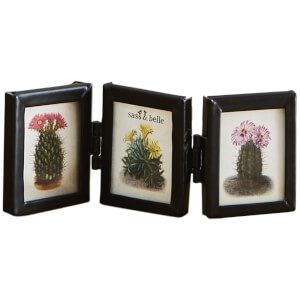 Sass & Belle Monochrome Black Mini Triple Photo Frame