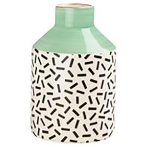 Sass & Belle Memphis Modern Pastel Green Pattern Vase