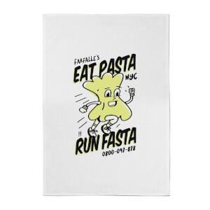 Eat Pasta, Run Fasta Cotton Tea Towel
