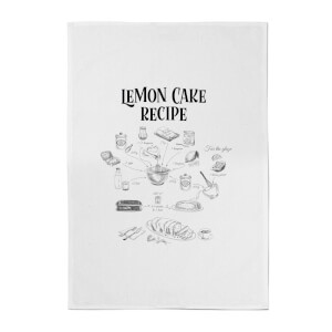 Lemon Cake Recipe Cotton Tea Towel