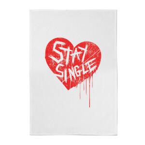 Stay Single Cotton Tea Towel