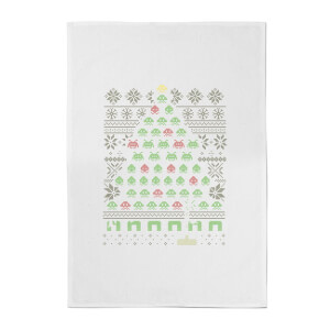 Gamer's Christmas Tree Cotton Tea Towel