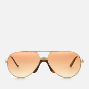 Gucci Aviator Style Sunglasses - Gold