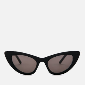 Saint Laurent Women's Lily Cat-Eye Frame Sunglasses - Black