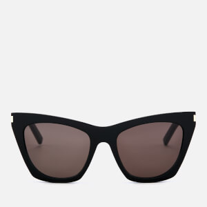 Saint Laurent Women's Kate Acetate Sunglasses - Black