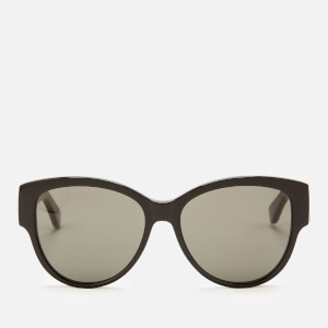 Saint Laurent Women's Oversized Round Frame Sunglasses - Black