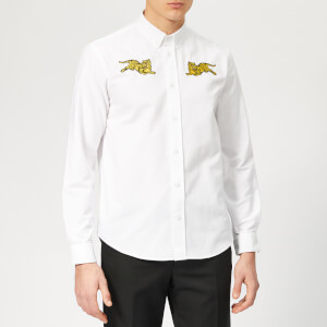 KENZO Men's Jumping Tiger Oxford Shirt - White
