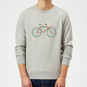 Rudolph Bike Christmas Sweatshirt - Grey