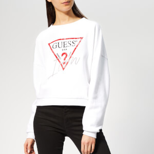 Guess Women's Icon Sweater - True White