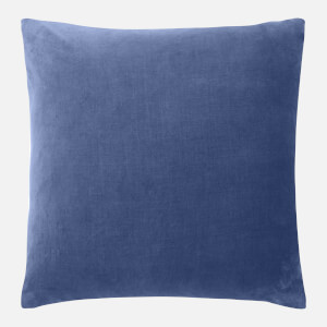 in homeware Cotton Velvet Cushion - Blue