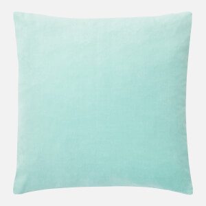 in homeware Cotton Velvet Cushion - Duck Egg