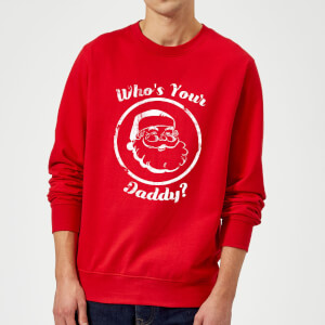 Who's Your Daddy? Christmas Sweatshirt - Red