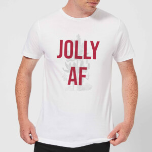 Jolly AF Men's Christmas T-Shirt - White