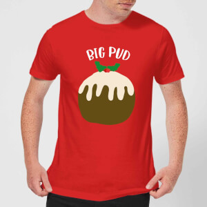 Big Pud Men's Christmas T-Shirt - Red