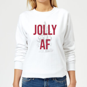 Jolly AF Women's Christmas Sweatshirt - White