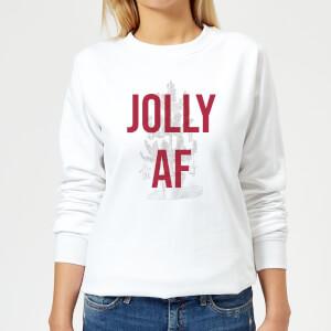 Jolly AF Women's Christmas Sweatshirt - White