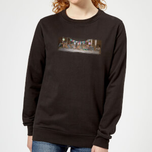 Happy Birthday, Jesus Women's Christmas Sweatshirt - Black
